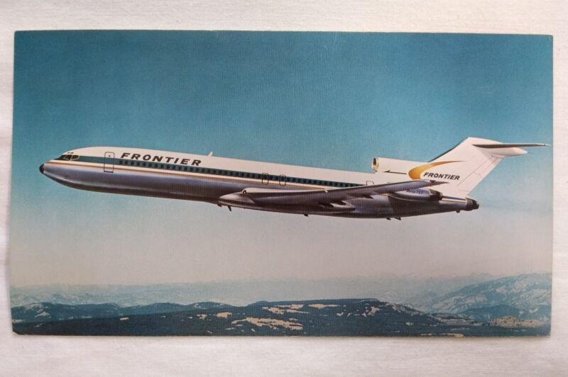 Vintage Frontier Airlines Airplane Postcard or Print