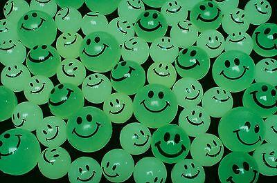 Glow In The Dark Bouncy Balls (144 Glow In The Dark Smiley Face Bouncy Super Balls Vending machine resale)