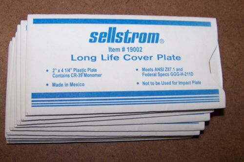 """Sellstrom Item 19002,  Long Life Cover Plate Welding Mask 2"""" x 4-1/4 in 11 Each"""