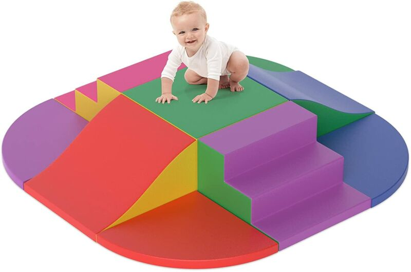 9PCS Crawl Foam Set Climb Indoor Kids Baby Toddler Soft Safe Foam Blocks Toys US