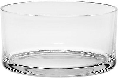 #1 High Quality Large Glass Round Salad Bowl - Serving Dish - 120 Oz. Clear (Glass Large Salad Bowl)