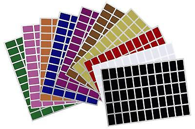 Rectangular Removable Color Coding Labels 25.5mm x 16mm Price Tag Art Stickers ](Colored Labels)