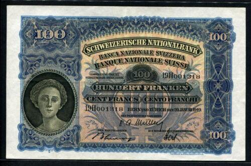 Switzerland 1949, 100 Franken, VF+