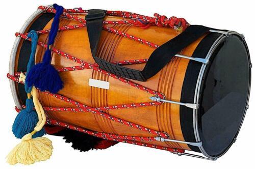 Indian Wedding Musical Punjab Bhangra Dhol,Mango Wood Musical Instrument