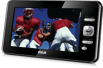 RCA 7 Inch 60Hz 480 x 234 LED-Lit Portable Small Digital Handheld TV (Black)