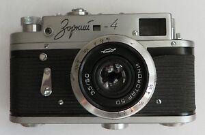 ZORKI-4-LENS-INDUSTAR-50-CASE-Russian-Vintage-Rare-Rangefinder-35mm-Camera-USSR
