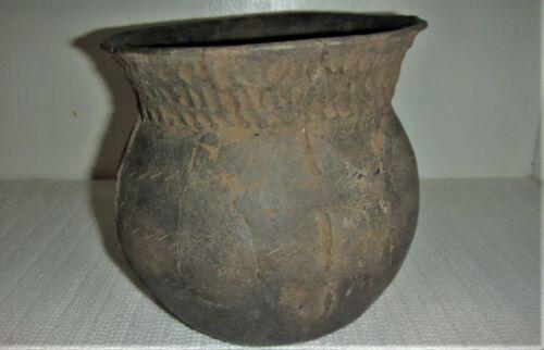 Texas Nash Neck Banded Jar Ancient Native American Caddo Indian Pottery w/COA