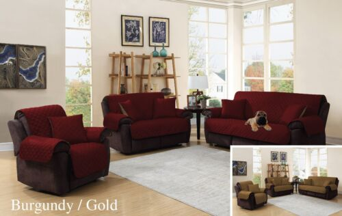 3 Piece Soft  Sofa Love seat Chair Reversible Furniture Protector Slip Cover Furniture