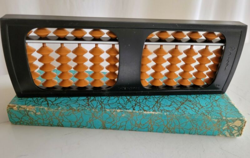 Vintage Abacus 13 Columns 65 Beads Total Made In Japan with Box SV logo on frame
