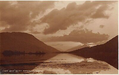 BR69091 loch leven evening  scotland judges 11400 real photo