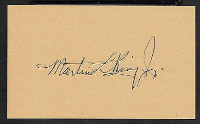 Martin Luther King Jr Autograph Reprint On Original Period 1960s 3x5 Card