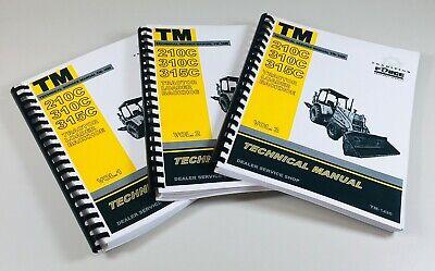 John Deere 210c 310c 315c Tractor Loader Backhoe Technical Service Repair Manual