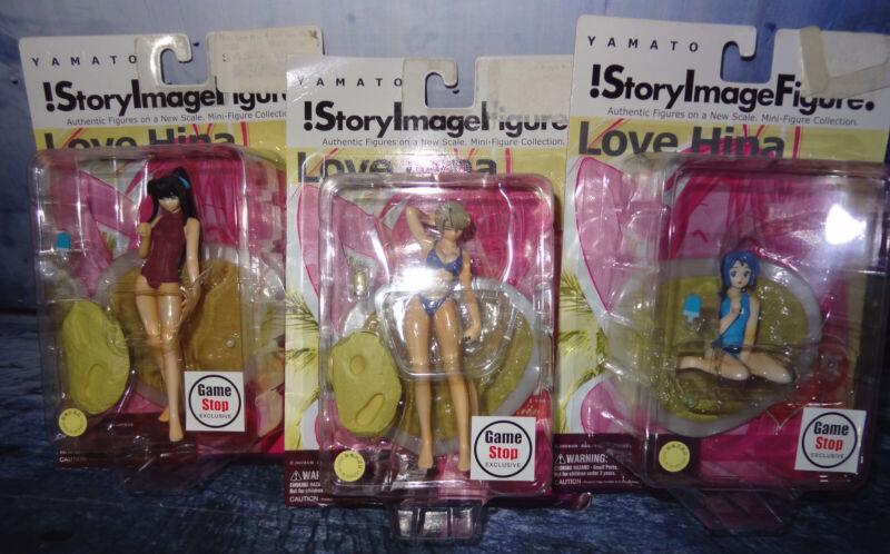 YAMATO STORY IMAGE Set Of 3 LOVE HINA ANIME MINI FIGURE NEW