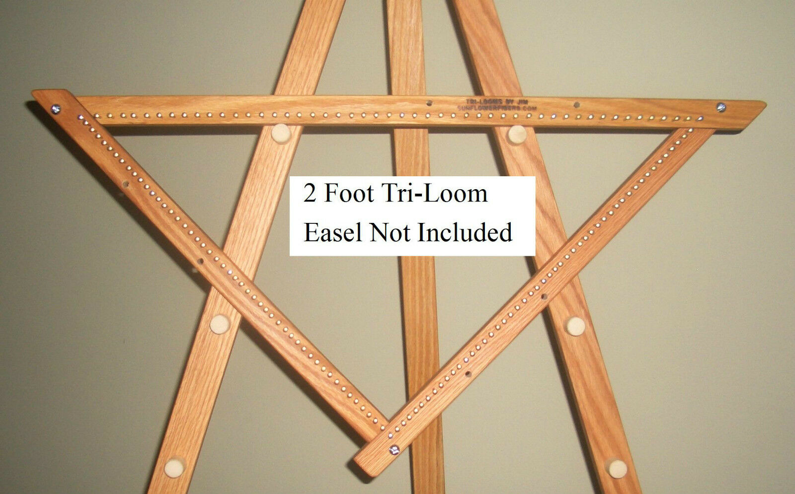 2' Adjustable Triangle 1/2 Inch Bulky Sett Weaving Loom From Tri-looms By Jim