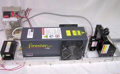 Synrad Firestar V20 Co2 Laser 75w Fsv20sfb Wcontroller Power Beam Head Frame