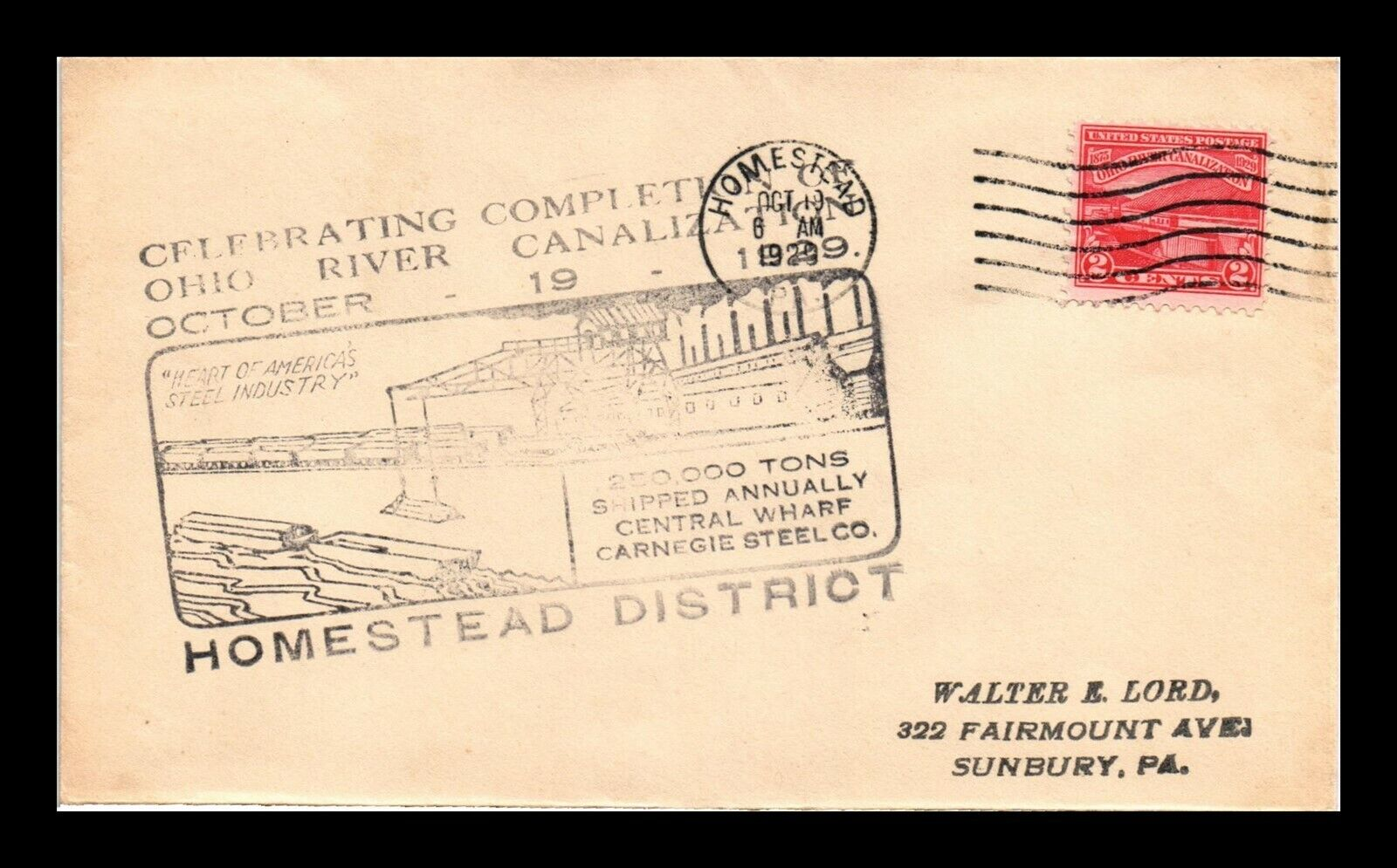 DR JIM STAMPS US HOMESTEAD DISTRICT OHIO RIVER CANALIZATION FDC COVER SCOTT 681 - $0.25