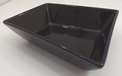 Arabia Finland Small Ceramic Serving Dish Bowl ABC Design Blue
