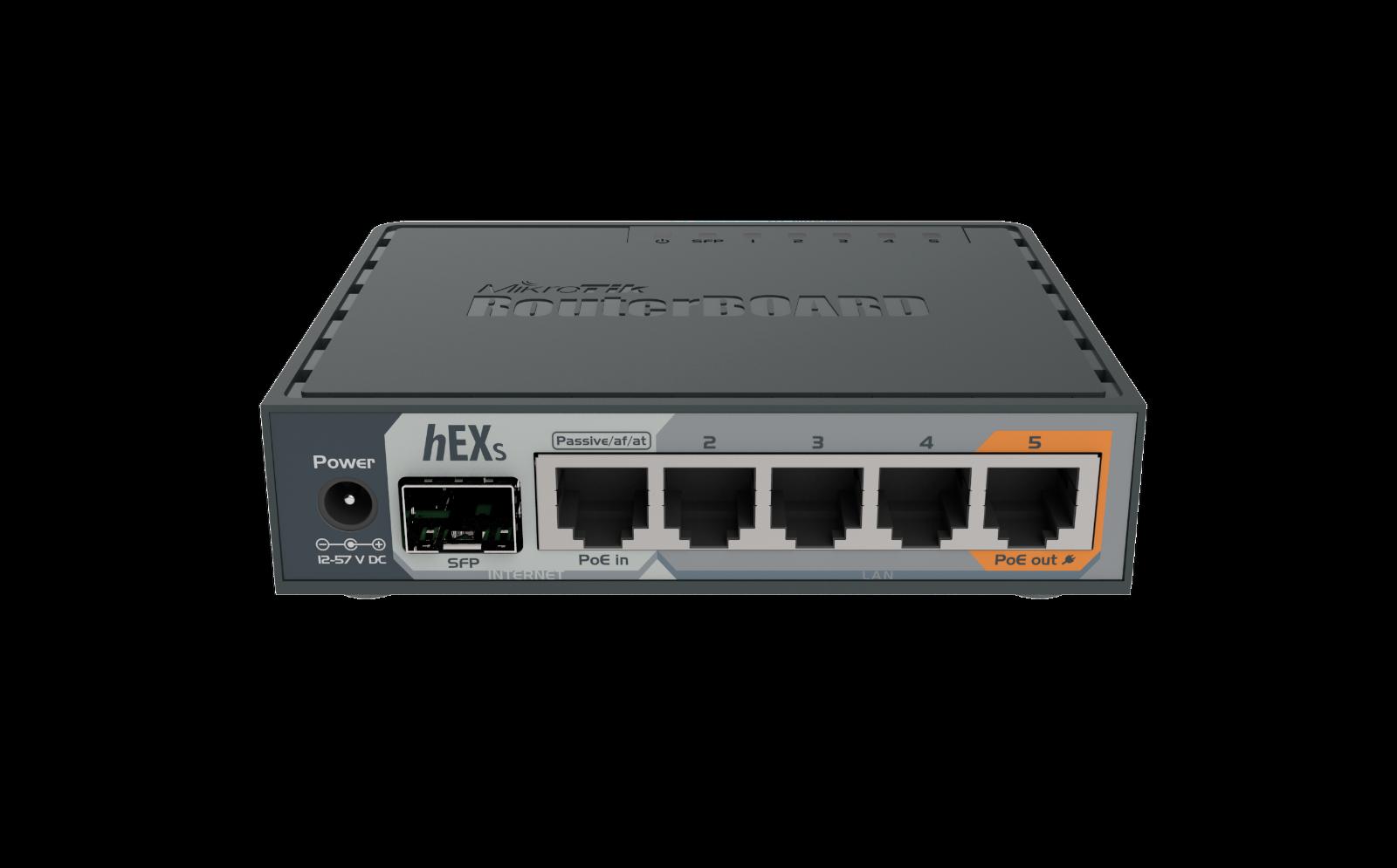 Mikrotik hEX S RB760iGS Ethernet Router 5xGbit LAN, 1xPOE, 1