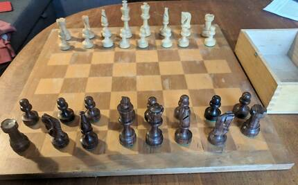 Wooden chess set Bronte Eastern Suburbs Preview
