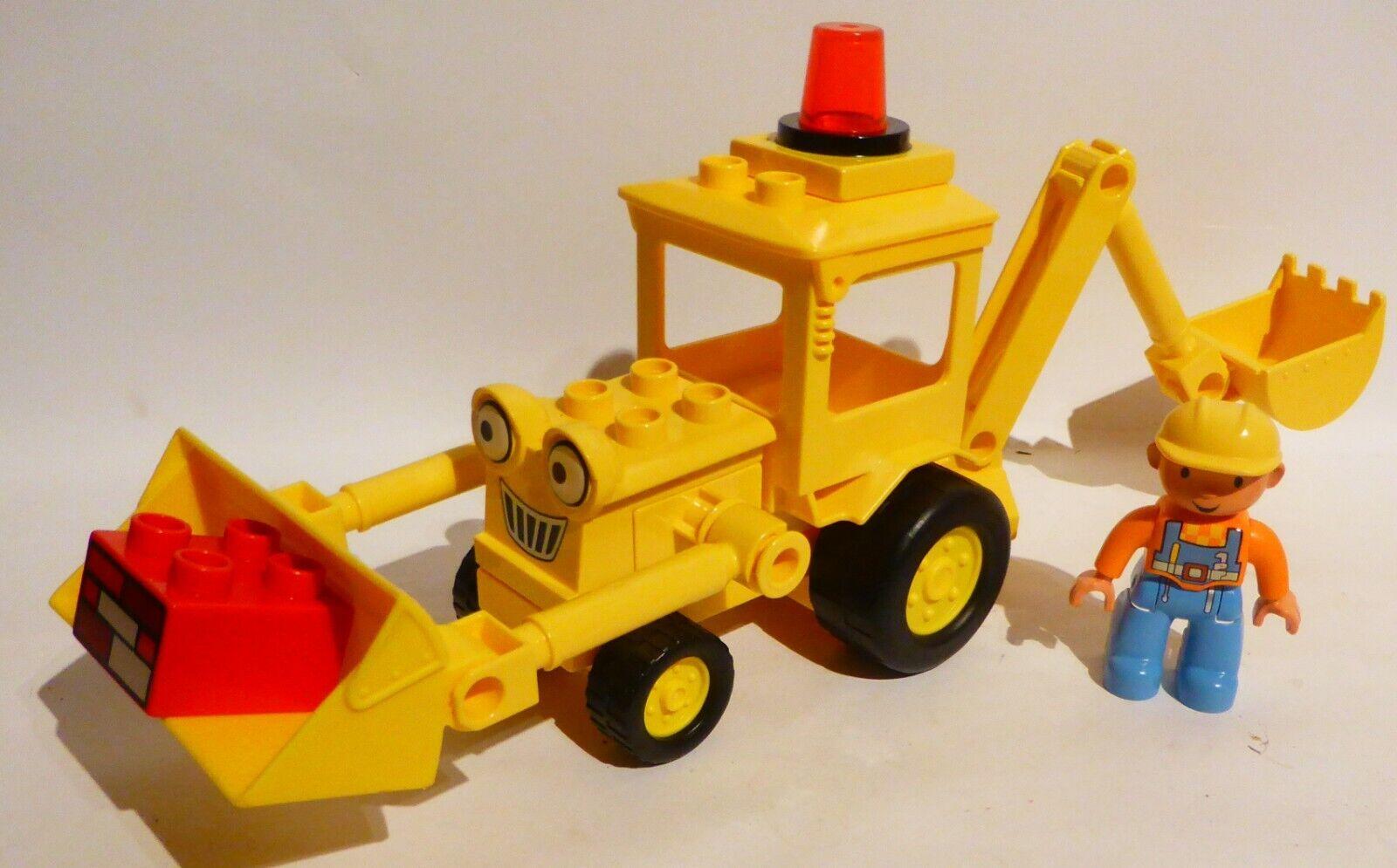 LEGO DUPLO BAUSTELLE BOB DER BAUMEISTER BAGGER RADLADER BAGGI MIT BOB !!