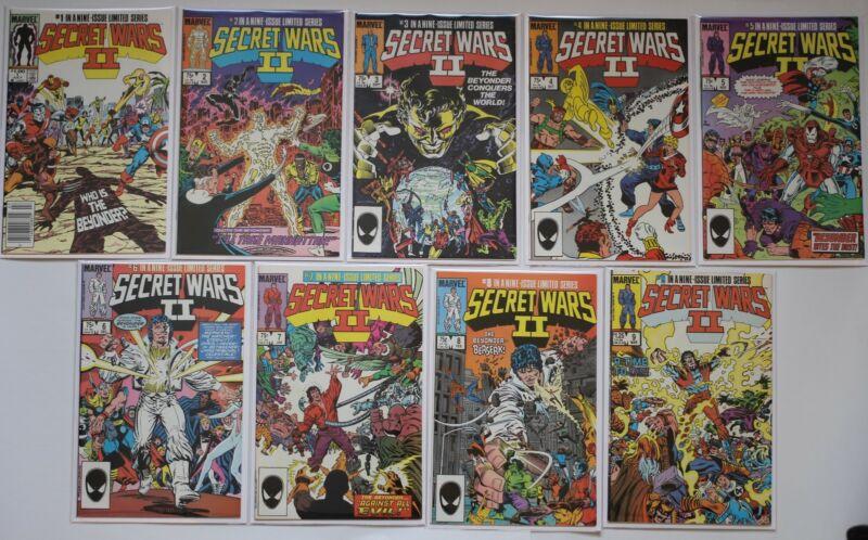 Secret Wars II 1 - 9 Complete Set Marvel Comics 1985 Limited Series Full Run