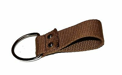 Tan Web Belt Loop Key Chain Holder 3 1/4