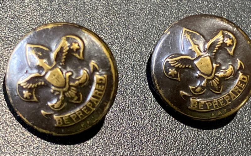 "Vintage Buttons, First Class Boy Scout Emblem, ""Be Prepared"" S. Eisner Co."