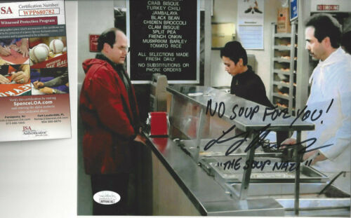 Seinfeld  Soup Nazi  autographed 8x10  photo with George on line  JSA Certified