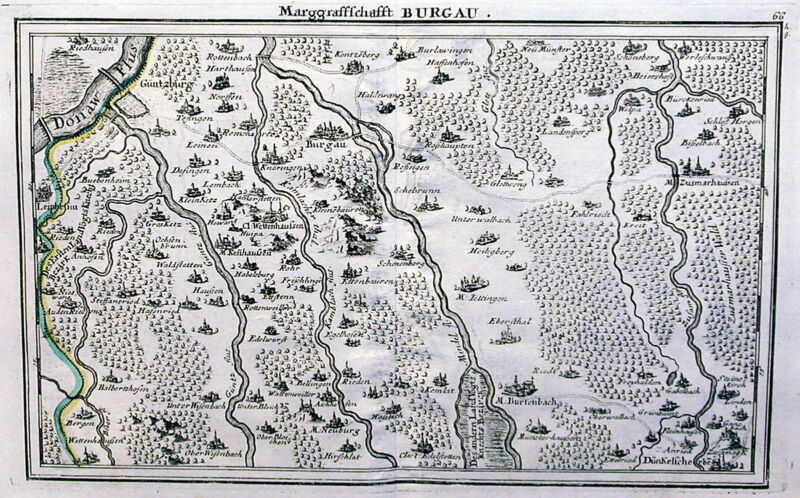 Antique map, Burgau