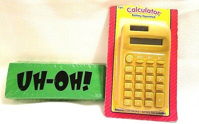 New Calculator Jumbo Eraser School Supplies Office Supplies Teacher Accessories
