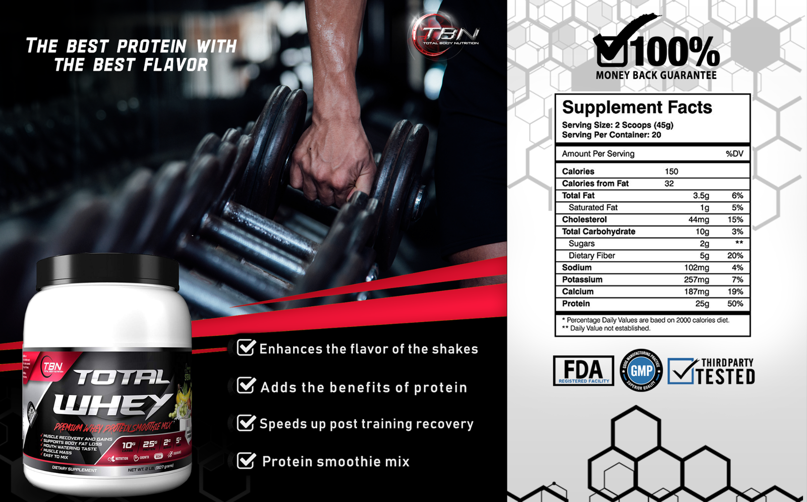 Whey Protein, Pure Whey, Protein Shakes- 2 Tubs@2lbs,20% OFF, FREE SHIPPING!!!  1