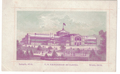 1876 Centennial Exhibition Card -- U.S. Exhibition Building