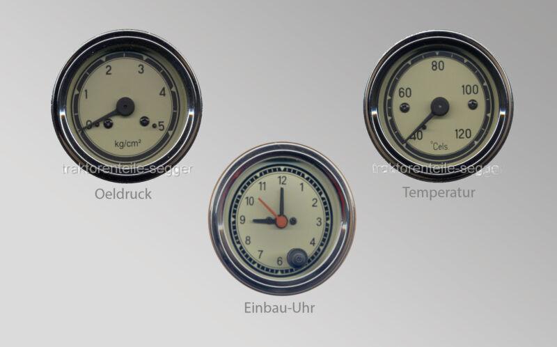 Universelles Instrumenten Paket Einbau-Uhr Öldruckmanometer Fernthermometer  Foto 1