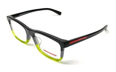 New Prada VPS 05F-F TWU-1O1 Black Men's Authentic Eyeglasses Frame (New Prada Glasses)