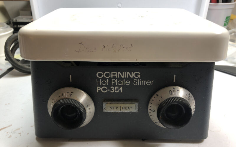 Corning PC351 PC-351  stirrer mixer magnetic  laboratory, Hot Plate Doesn't Work