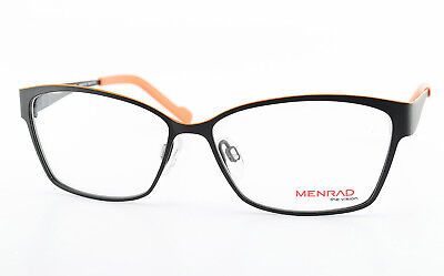 MENRAD Brille The Vision 13272-6100 Square Eye Frame Spring Temples Black Orange