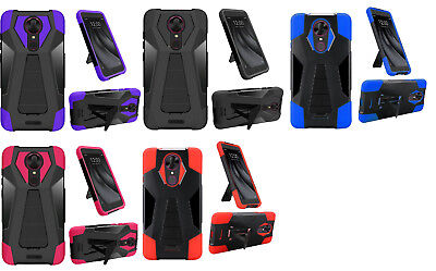 T-Stand Hybrid Protector Case Phone Cover for Coolpad Revvl Plus - Stand Protector Cover