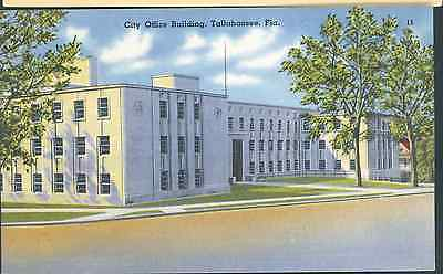 Florida  Tallahassee City Office Building Linen  Fl T