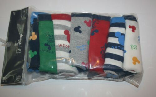 New Gap Boys 7 Pack Underwear Size 2 3 Year NWT Briefs Disney Mickey Days Week