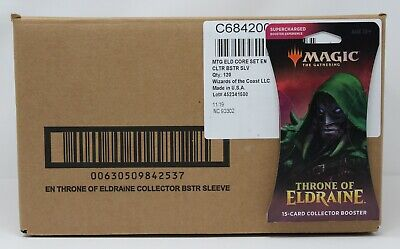 Throne of Eldraine 120 Collector Sleeved Booster Pack Case MTG Magic