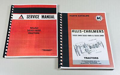 Allis Chalmers 5020 5030 Tractor Service Repair Manual Parts Catalog Set
