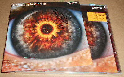HAND-SIGNED Breaking Benjamin Burnley Ember CD New Autograph Autographed Sealed