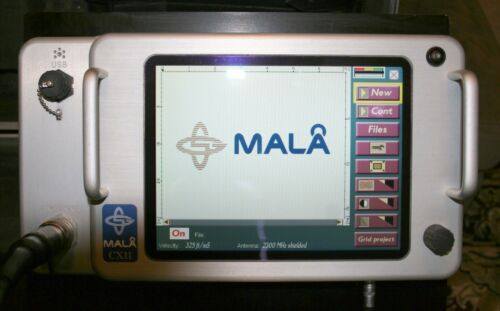 Mala CX11 Ground Penetrating Radar, GPR, with 2.3 GHz Antenna, Battery, PS, Case