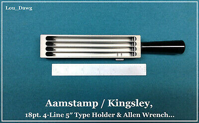 Aamstamp Kingsley Machine 18pt. 4-line 5 Type Holder Hot Foil Stamping