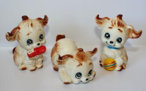 Bone China Anthropomorphic PLAYFUL PUPPY DOG Figurine Set Kewpie Brinns Style