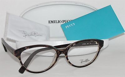 Emilio Pucci Women's Eyeglasses Cat Eye Tortoise Glasses Frame EP 2688 236 Italy