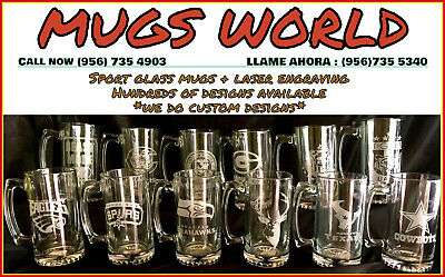 NFL Football Teams sport Beer Mug 26.5 oz Personalized Laser Engraved FREE SHIP!