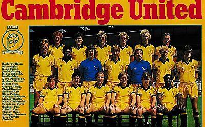 CAMBRIDGE UNITED FOOTBALL TEAM PHOTO 1980-81 SEASON