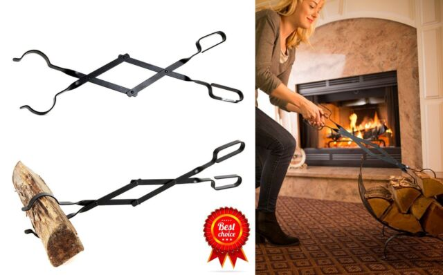 Epica Fireplace Tongs 26 Long Log GRABBER Fireplaces Grills Fire ...