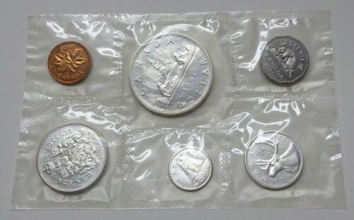 1961 Canada Silver 6-Coin Proof-Like Set - Original Envelope
